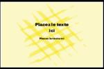 Entrelacs jaunes Cartes de souhaits pliées en deux - gabarit prédéfini. <br/>Utilisez notre logiciel Avery Design & Print Online pour personnaliser facilement la conception.