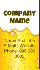 """3½"""" x 2"""" Business Card - Beer Image"""