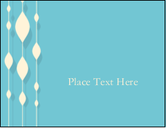 "5½"" x 4¼"" Postcard - Blue Bead Curtain"