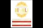 Diwali fleuri Cartes Et Articles D'Artisanat Imprimables - gabarit prédéfini. <br/>Utilisez notre logiciel Avery Design & Print Online pour personnaliser facilement la conception.