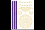 Diwali en élégant henné Cartes Et Articles D'Artisanat Imprimables - gabarit prédéfini. <br/>Utilisez notre logiciel Avery Design & Print Online pour personnaliser facilement la conception.