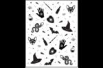 Halloween magique Cartes Et Articles D'Artisanat Imprimables - gabarit prédéfini. <br/>Utilisez notre logiciel Avery Design & Print Online pour personnaliser facilement la conception.