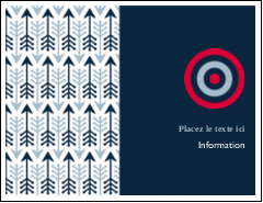 "4¼"" x 5½"" Cartes de notes - Flèche marine"