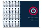 Flèche marine Cartes de notes - gabarit prédéfini. <br/>Utilisez notre logiciel Avery Design & Print Online pour personnaliser facilement la conception.