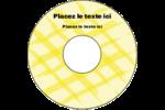 Entrelacs jaunes Étiquettes Pour Médias - gabarit prédéfini. <br/>Utilisez notre logiciel Avery Design & Print Online pour personnaliser facilement la conception.