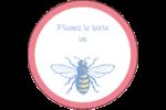 Abeille butineuse Étiquettes Voyantes - gabarit prédéfini. <br/>Utilisez notre logiciel Avery Design & Print Online pour personnaliser facilement la conception.