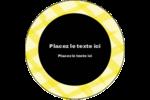 Entrelacs jaunes Étiquettes Voyantes - gabarit prédéfini. <br/>Utilisez notre logiciel Avery Design & Print Online pour personnaliser facilement la conception.