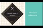 Fourchette et couteau Carte d'affaire - gabarit prédéfini. <br/>Utilisez notre logiciel Avery Design & Print Online pour personnaliser facilement la conception.