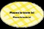 Entrelacs jaunes Étiquettes ovales - gabarit prédéfini. <br/>Utilisez notre logiciel Avery Design & Print Online pour personnaliser facilement la conception.
