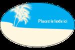 Palm Beach Étiquettes ovales - gabarit prédéfini. <br/>Utilisez notre logiciel Avery Design & Print Online pour personnaliser facilement la conception.