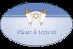 Rouleau de la Torah Étiquettes ovales - gabarit prédéfini. <br/>Utilisez notre logiciel Avery Design & Print Online pour personnaliser facilement la conception.