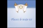 Rouleau de la Torah Étiquettes carrées - gabarit prédéfini. <br/>Utilisez notre logiciel Avery Design & Print Online pour personnaliser facilement la conception.