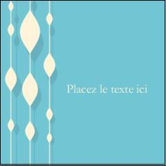 """1½"""" x 1½"""" Étiquettes carrées - Rideau de perles bleues"""