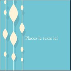 """2"""" x 2"""" Étiquettes carrées - Rideau de perles bleues"""