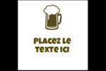 Image de bière Étiquettes carrées - gabarit prédéfini. <br/>Utilisez notre logiciel Avery Design & Print Online pour personnaliser facilement la conception.