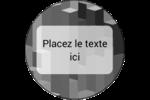 Architecture Minecraft Étiquettes rondes - gabarit prédéfini. <br/>Utilisez notre logiciel Avery Design & Print Online pour personnaliser facilement la conception.