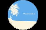 Palm Beach Étiquettes rondes - gabarit prédéfini. <br/>Utilisez notre logiciel Avery Design & Print Online pour personnaliser facilement la conception.