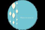 Rideau de perles bleues Étiquettes rondes - gabarit prédéfini. <br/>Utilisez notre logiciel Avery Design & Print Online pour personnaliser facilement la conception.