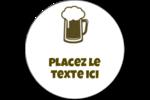 Image de bière Étiquettes rondes - gabarit prédéfini. <br/>Utilisez notre logiciel Avery Design & Print Online pour personnaliser facilement la conception.