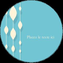 """2½"""" Diameter Étiquettes rondes - Rideau de perles bleues"""