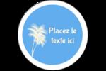 Palm Beach Étiquettes rondes gaufrées - gabarit prédéfini. <br/>Utilisez notre logiciel Avery Design & Print Online pour personnaliser facilement la conception.