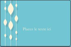 """2"""" x 3"""" Étiquettes rectangulaires - Rideau de perles bleues"""