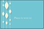 Rideau de perles bleues Étiquettes rectangulaires - gabarit prédéfini. <br/>Utilisez notre logiciel Avery Design & Print Online pour personnaliser facilement la conception.
