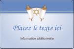 Rouleau de la Torah Étiquettes rectangulaires - gabarit prédéfini. <br/>Utilisez notre logiciel Avery Design & Print Online pour personnaliser facilement la conception.