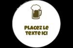 Image de bière Étiquettes rondes gaufrées - gabarit prédéfini. <br/>Utilisez notre logiciel Avery Design & Print Online pour personnaliser facilement la conception.
