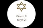 Rouleau de la Torah Étiquettes rondes gaufrées - gabarit prédéfini. <br/>Utilisez notre logiciel Avery Design & Print Online pour personnaliser facilement la conception.