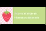 Fraise en rouge et vert Étiquettes D'Adresse - gabarit prédéfini. <br/>Utilisez notre logiciel Avery Design & Print Online pour personnaliser facilement la conception.