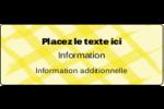 Entrelacs jaunes Étiquettes D'Adresse - gabarit prédéfini. <br/>Utilisez notre logiciel Avery Design & Print Online pour personnaliser facilement la conception.
