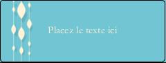 """½"""" x 1¾"""" Étiquettes D'Adresse - Rideau de perles bleues"""