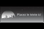 Ville nocturne Étiquettes D'Adresse - gabarit prédéfini. <br/>Utilisez notre logiciel Avery Design & Print Online pour personnaliser facilement la conception.