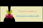 Cuillère à dessert Étiquettes D'Adresse - gabarit prédéfini. <br/>Utilisez notre logiciel Avery Design & Print Online pour personnaliser facilement la conception.