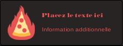 """½"""" x 1¾"""" Étiquettes D'Adresse - Pizza ardente"""
