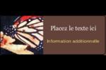 Papillon perché Étiquettes D'Adresse - gabarit prédéfini. <br/>Utilisez notre logiciel Avery Design & Print Online pour personnaliser facilement la conception.