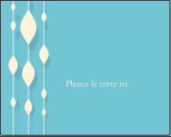 """3"""" x 3¾"""" Étiquettes rectangulaires - Rideau de perles bleues"""