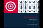 Flèche marine Étiquettes rectangulaires - gabarit prédéfini. <br/>Utilisez notre logiciel Avery Design & Print Online pour personnaliser facilement la conception.