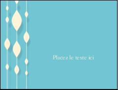 """5½"""" x 4¼"""" Carte Postale - Rideau de perles bleues"""