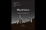 Ville nocturne Carte Postale - gabarit prédéfini. <br/>Utilisez notre logiciel Avery Design & Print Online pour personnaliser facilement la conception.