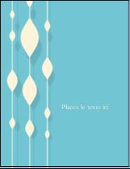 """4¼"""" X 5½"""" Carte Postale - Rideau de perles bleues"""