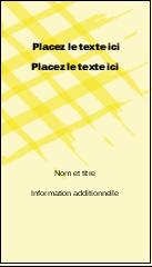 """3½"""" x 2"""" Carte d'affaire - Entrelacs jaunes"""