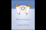 Rouleau de la Torah Carte Postale - gabarit prédéfini. <br/>Utilisez notre logiciel Avery Design & Print Online pour personnaliser facilement la conception.