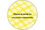 Entrelacs jaunes Étiquettes rondes - gabarit prédéfini. <br/>Utilisez notre logiciel Avery Design & Print Online pour personnaliser facilement la conception.