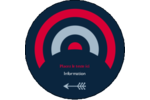 Flèche marine Étiquettes rondes - gabarit prédéfini. <br/>Utilisez notre logiciel Avery Design & Print Online pour personnaliser facilement la conception.