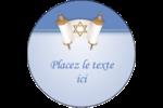 Rouleau de la Torah Étiquettes rondes - gabarit prédéfini. <br/>Utilisez notre logiciel Avery Design & Print Online pour personnaliser facilement la conception.