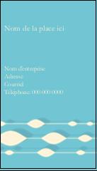 """3½"""" x 2"""" Carte d'affaire - Rideau de perles bleues"""