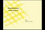 Entrelacs jaunes Carte Postale - gabarit prédéfini. <br/>Utilisez notre logiciel Avery Design & Print Online pour personnaliser facilement la conception.