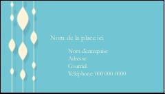 """2"""" x 3½"""" Carte d'affaire - Rideau de perles bleues"""